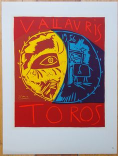 Pablo Picasso poster - Limited edition Collectible Lithograph Print 1959 by ValueVintagePrints on Etsy