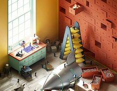 """Echa un vistazo a este proyecto @Behance:""""4² Rooms"""" https://www.behance.net/gallery/26697085/4-Rooms"""