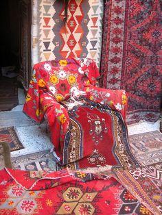 Bohemian Feeling at the bazaar ~ colorfull handicrafts, Marakech