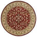 Mystic William Red 7 ft. 9 in. x 7 ft. 9 in. Round Area Rug