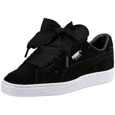 Puma Puma Suede Heart Valentine Junior Trainer ( 92) ❤ liked on Polyvore  featuring shoes 63a1b114d