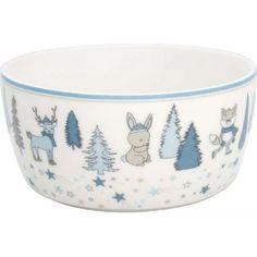 Kindeschüssel - Kids bowl - Forrest pale blue von Greengate Mini, Tableware, Blue, Microwave, Dinnerware, Dishes, Place Settings