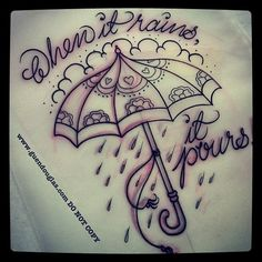 guendouglas: 2nd one for tomorrow! #rain #umbrella #tattoo...