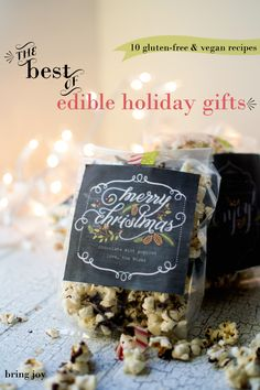 best of edible holiday gifts | 10 gluten-free & vegan recipes
