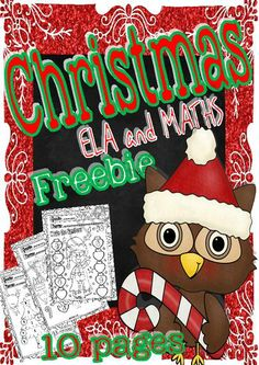FREE!  Christmas ELA and Maths Freebie for little kids (10 pages) from magischool on TeachersNotebook.com (10 pages)  - This is a nice set of activities to share with you for Christmas time! These activities are focused on students from Pre-K to first grades levels of education! I hope you like it! If you find this is a great resource for your class, please stop by my stor