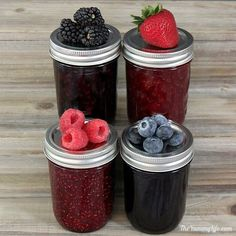 Choose-Your-Berry Jam   3 Ingredients with No Pectin - A multi-tasking recipe for raspberry, blueberry, strawberry, or blackberry jam for refrigerator, freezer or canning.