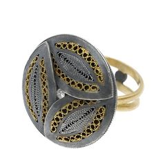 Ring | Radi Bothers. Sterling silver, gold and diamond