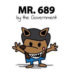 #689 Illustration by Maxwell Ip #umbrellarevolution
