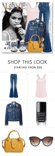 """""""Celeb: Selena Gomez"""" by coraline-marie ❤ liked on Polyvore featuring STELLA McCARTNEY, Chanel, Burberry and Attico"""
