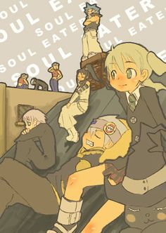 SE - Maka, Soul, Crona, Tsubaki, Black Star, Liz, Patty y Death the Kid