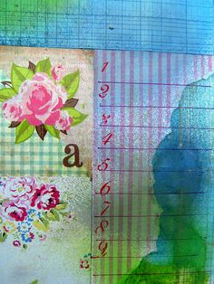 Art journal page by Cathy Bluteau