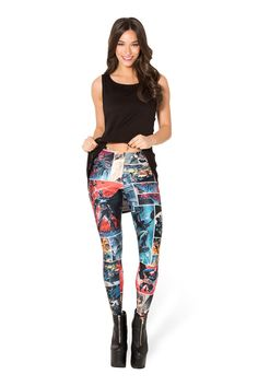 Batman Comic Leggings - LIMITED – Black Milk Clothing