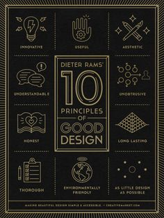 Dieter Rams' 10 Principles of Good Design in Poster Format | creativebits™