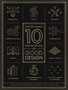 포스터로 보는 디터 람스의 좋은 디자인 10대 원칙