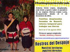 Ante la impunidad del gobierno de México, indígenas tzeltales de Banavil deciden retornar de manera provisional
