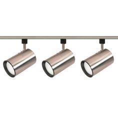 Nuvo TK341 Brushed Nickel 3 Light - R30 - Straight Cylinder Track Kit