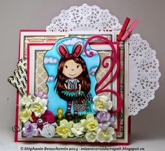 Bunny Girl  made by Paper Nest Dolls Rubber Stamps & sold individually. Items can be purchased in my ebay Store Pat's Rubber Stamps & Scrapbooks or call me 423-357-4334 with order, or come by 1327 Glenmar Ave. Mt Carmel, TN 37645, Pat's Rubber Stamps & Scrapbook supplies 423-357-4334. We take PayPal. You get free shipping with the phone orders of $30.00 or more