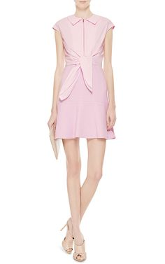 Tie-Front Crepe and Cotton Dress by Carven Now Available on Moda Operandi