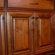 Tuscan Kitchen Design--Hey!  This is my current kitchen cabinet door but the drawers & handles are different.