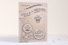 Antique Lines Foil-Pressed Wedding Invitations by ...   Minted
