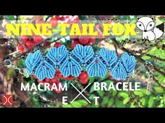 DIY macrame bracelet - The Nine tail fox armlet - Basic guide by Tita - YouTube