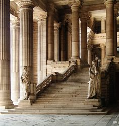 """ghostlywatcher: """" The grand staircase of the Law Courts of Brussels, Belgium. """" this photo gave my leg a spasm. I'm seriously shaking at this shit Grande Cage D'escalier, Grand Staircase, Stairs, Curved Staircase, Monuments, Hipster Vintage, Ancient Greece, Art And Architecture, Classical Architecture"""