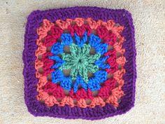 crochet square for a granny square crochet purse, crochetbug, crocheted, crocheting, crochet squares