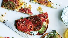 Falafel-Spiced Tomatoes and Chickpeas on Flatbread Recipe