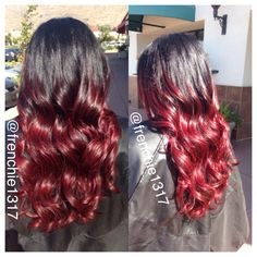 Red ombré. @frenchie1317
