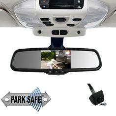 Parksafe CD-CM070 4.3″ Replacement Mirror Monitor & Mini Stalk Camera Combo Reverse Mirror, Monitor, Mini