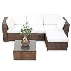 xinro 19tlg xxxl polyrattan gartenmöbel lounge sofa günstig, Garten und bauen