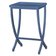 Check out this item at One Kings Lane! Laurie Side Table, Distressed Blue 18x14x28 130