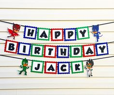 PJ Masks Banner  PJ Masks Birthday Party Decorations  PJ