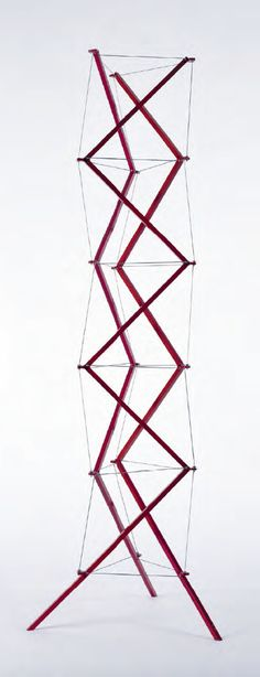 Once, My study group and I made the same structure concept in Structure and Construction class, based on the idea of triple helix in human DNA. I never know that, there will be some one else think the same Kenneth Snelson | 'Zig-Zag Tower' | 1997