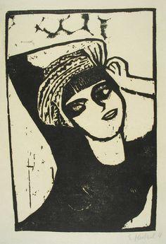 Erich Heckel Mädchen Mit Turban, 1911