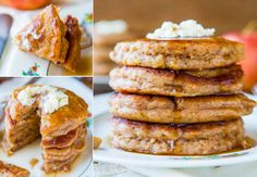 Apple Pie Pancakes with Maple Syrup