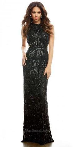Sequined Art-Deco Prom Dress by Mac Duggal #edressme