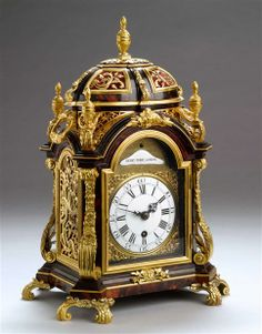 A GEORGE III BRACKET CLOCK