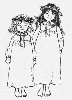 Madicken en Lisabet by Ilon Wikland