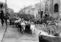 Russian Empire Poland (Polish governorates) Lublin: First World War, Austrian troops passing the streets of Lublin - undated, probably in 1916 - Photo: Berger Jewish History, My Kind Of Town, World Photo, Old Pictures, First World, Troops, World War, Poland, Michigan