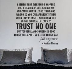 Marilyn Monroe Trust No One Quote Decal Sticker Wall Vinyl Decor Art - boop decals - vinyl decal - vinyl sticker - decals - stickers - wall decal - vinyl stickers - vinyl decals