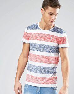 Image 1 ofEsprit Reverse Stripe T-Shirt