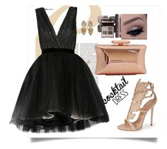"""""""Cocktails with Guiseppe"""" by e5t3ll3 ❤ liked on Polyvore featuring Giuseppe Zanotti, Alice + Olivia and Treesje"""