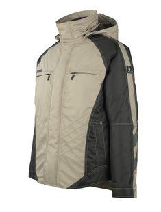 Geaca iarna bej Mascot Frankfurt Mascot Workwear, Frankfurt, Romania, Work Wear, Raincoat, Jackets, Fashion, Outfit Work, Rain Jacket
