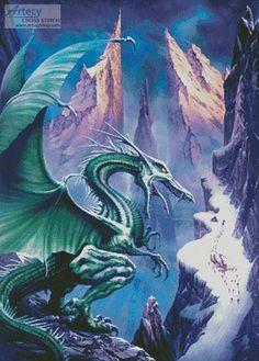 Dragon of the North cross stitch chart