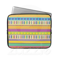 Colorful Rainbow Cute Patterns and Shapes Gifts Laptop Computer Sleeves