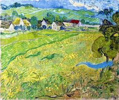 "Vincent van Gogh ""Les Vessenots in Auvers""/ May Auvers-sur-Oise Oil on canvas, 55 x 65 cm/ Museo Thyssen-Bornemisza, Madrid Vincent Van Gogh, Camille Pissarro, Claude Monet, Van Gogh Arte, Van Gogh Pinturas, Van Gogh Landscapes, Famous Artwork, Van Gogh Paintings, Philadelphia Museum Of Art"