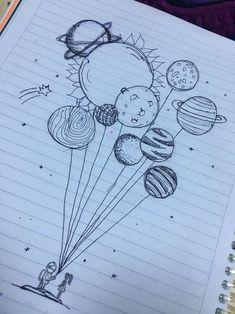 Pin de 🤪 em art ♡ em 2019 art sketches, art drawings e doodle art. Space Drawings, Cool Art Drawings, Pencil Art Drawings, Art Drawings Sketches, Doodle Drawings, Easy Drawings, Cute Drawings Tumblr, Tattoo Sketches, Drawing Ideas