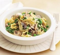 Creamy mushroom and spinach fettuccine | Healthy Food Guide