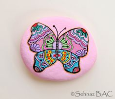 Hand Painted Stone Butterfly https://www.facebook.com/ISassiDelladriatico